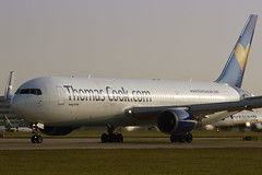 Thomas Cook G-TCCB 28-5-2016 (Enda Burke) Tags: travel england holiday man window sunrise canon airplane manchester fly flying airport wings holidays aviation flight engine cockpit apron landing engines boeing arrival terminal3 departure takeoff runway flightdeck avp aero manchestercity 767 manchesterairport winglets taxiing terminal2 terminal1 rvp manc taxiway ringway thomascook boeing767 b767 767300 tcx egcc av8 aviationviewingpark avgeek thomascookairlines boeing767300er manairport landingear gtccb runwayvisitorpark runwayvistitorpark t3carpark manchesterrunwayvisitorpark canon7dmk2
