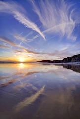 Dancer with bruised knees (pauldunn52) Tags: sunset heritage wales reflections temple bay coast glamorgan
