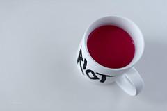 Sempre peggio (fabiog86) Tags: red stilllife white cup canon 50mm riot focus soft clear rosso bianco tazza anygivensunday canoneos60d fabiog