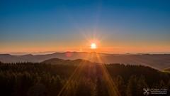 Sunset in the Black Forest (Nolle15) Tags: sunset mountain black mountains forest de deutschland sonnenuntergang aerial berge inspire sonne schwarzwald luftaufnahme badenwrttemberg kinzigtal dji fischerbach zenmusex5