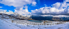 Snow At Laklouk Lakes, Lebanon (Paul Saad (( ON/OFF ))) Tags: winter sky panorama lebanon mountain lake snow mountains water clouds nikon pano panoramic mountainside qartaba laklouk afka kartaba akoura