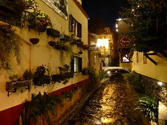 Old Town - Funchal (oh.suzannah) Tags: by night river lights restaurant evening rocky colourful madeira funchal lightscape