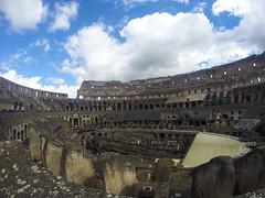 Colisseo (Kybenfocando) Tags: travel blue sky italy rome roma landscape italia cielo traveling viaggio viajar traveler colisseo viaggiare