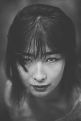 Tread Lightly (Bokehneer) Tags: portrait bw woman girl asian nikon young monochromatic brooding offset hoppa d700