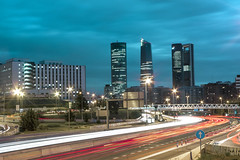 CTBA night (Anbaal) Tags: madrid city night luces noche towers ciudad torres cbta