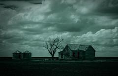 Haunted Farm (Ursa Davis) Tags: old usa west abandoned oklahoma america dark photography photo midwest farm sinister united haunted creepy horror states davis ok mid ursa haunt