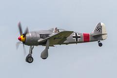 German AF Focke-Wulf Fw.190A-8 N190BR (Hugh Dodson) Tags: saturday ypsilanti willowrun fw190a8 fockewulf germanaf n190br thunderovermichigan2015