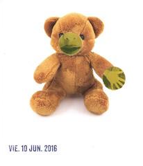 June 10th los dias contados (kurberry) Tags: collage teddybear vintageephemera collageaday creepyteddybear losdiascontados