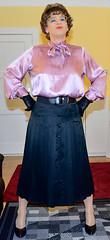 Birgit021979 (Birgit Bach) Tags: skirt button satin pleated faltenrock bowblouse schleifenbluse durchgeknpft