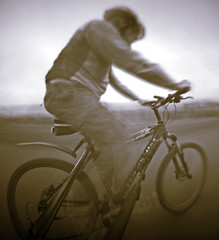 The Cyclist (wheehamx) Tags: motion bike bicycle movement cyclist pinhole 25 4x5 relative ortho
