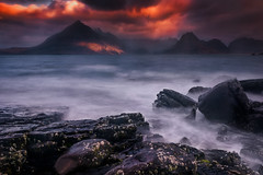 Elgol Sunrise (devlin11) Tags: morning light mountains skye sunrise landscape scotland seaside nikon scenery rocks exposure isleofskye magic lee filters cuillins isle tranquil elgol
