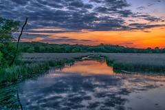Bloomington Sunset (Doug Wallick) Tags: sunset ski reflection minnesota creek jump colorful nine may twincities bloomington mile hyland 2016