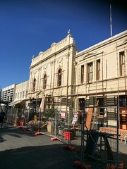 Town hall renovations (Figgles1) Tags: town hall scaffolding halls scaffold townhall renovation fremantle iphone img1425