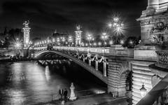 Pont Alexandre III (Zimeoni) Tags: pont alexandre iii paris france black white dramatic travel