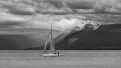 Le dernier souffle avant la nuit (Karl Le Gros) Tags: lake switzerland abend voilier 2016 laclman saintprex cantondevaud nikon70200mmf4 nikond750 xaviervonerlach