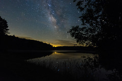 Price Lake (redline485) Tags: nikond7100 tokina1120mmf28 milkyway mountains northcarolina blueridgeparkway trees stars night sky lake water