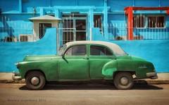 Green Classic Car, Havana, Cuba (augenbrauns) Tags: enlightapp snapseed vintagecar classiccar car green cuba havana mirrorlesscamera olympus