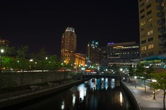 Downtown Providence (E. Aguedo) Tags: new city light england urban building night river island long exposure downtown ngc providence rhode