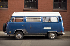Volkswagen Type 2 (Curtis Gregory Perry) Tags: portland oregon volkswagen vw van bus blue camper type 2 two t2 pdx nikon d800e