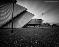 Armadillo and Hydro, Glasgow (Damon Finlay) Tags: longexposure 2 blackandwhite white black monochrome canon silver scotland big long exposure glasgow collection hydro lee pro nik armadillo efs 1022mm stopper efs1022mm efex 60d canon60d leebigstopper silverefexpro2 nikcollection