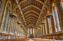Suzzallo reading room (a.k.a. Hogwarts) (Jojo Septantesix) Tags: universityofwashington university washington seattle suzzallo library reading room readingroom great hall college campus hogwarts architecture gothic stainedglass