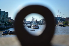Different perspective of HMS Belfast (Josh6001) Tags: round metal circle ring blur hmsbelfast ship navy war britain london uk unitedkingdom victory river thames towerbridge bridge nikon d5200 outside landscape riverscape sunny warm perspective