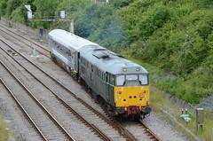 DCR 31452, Chipping Sodbury (sgp_rail) Tags: bridge summer train coach nikon empty south main stock july rail railway move gloucestershire class line 31 chiltern glos refurb chipping refurbished mainline 2016 sodbury d7000