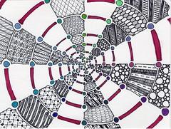 Spiral Tangle (Manurnakey) Tags: postcard doodle handdrawn zentangle zendoodle