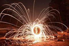 Wool on a sketchy log (JLandau Photography) Tags: tucson arizona casagrande domes smoke mask milkyway longexpo steelwool steel wool night photography orb long exposure portrait stars