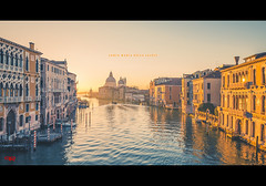 Santa Maria Della Salute (pRaTuL rAgHaV) Tags: morning travel blue venice light vacation italy water beautiful architecture landscape golden nikon holidays europe border salute earlymorning tourist hour destination nikkor d800 f28g gandolas 1424mm
