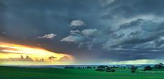 Showers over Gawler (Valley Imagery) Tags: gawler showers rain green sunset farmland south australia winter panorama sigma 50mm sony a77ii