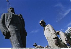 AAFE001304 (ngao5) Tags: africa portrait people sculpture motion male men history monument statue standing four rebel hope war energy european control adult action fineart authority group oppression fulllength visualarts demolition communism few civilwar stepping soviet metalwork rebellion prominentpersons change government tall publicart ethiopia russian militant addisababa groupofpeople civildisobedience leadership marxism civilian enthusiasm wrecking hornofafrica colossus ethiopian fourpeople dominating coupdetat nonconformity eastafrican bronzesculpture politicalandsocialissues urbanscene reformers politicalparty smallgroupofpeople civilconflict easternafrica caucasianethnicity africanethnicity ethiopiancivilwar19781991 ethiopianhistoricalevents africanculture vladimirilichlenin easterneuropeandescent easterneuropeanculture nativeafricanethnicity