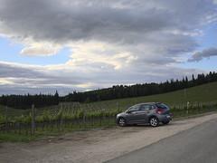Badia-di-Passignano_e-m10_1005125869 (Torben*) Tags: rawtherapee olympusomdem10 olympusm17mmf18 italien italy toskana tuscany urlaub vacation badiadipassignano weinberg vineyard auto car