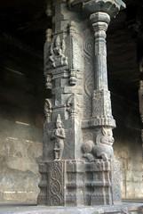 Winged Garuda on a Pillar (VinayakH) Tags: temple jalakandeswarartemple tamilnadu vellore india hindu religious shiva vijayanagaraempire