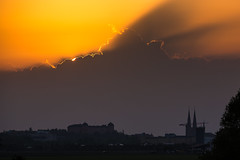 Uppsala, May 24, 2014 (Ulf Bodin) Tags: sunset cloud silhouette sweden uppsala sverige rays solnedgng moln uppsalaln