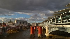 Grey skies over London Blackfriars (35mmMan) Tags: samsungkzoom samsung london blackfriars grey sky thames station bridge widescreen urban city android portrait stormy