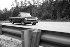 Matte Black Primed 1970 Chevrolet C10 (KyleSealPhotography) Tags: show white 3 black classic dusty 1969 up car truck canon 50mm virginia leaf spring slam bed rat inch shiny long shine arms flat suspension 5 f14 14 rusty pickup drop chevy springs half shock rod 5d 1970 pick coil fleet 35 dropped ton matte lack slammed quater fleetside slammer longbed dropping c10 5dc