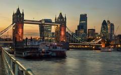 Thames evening (Westhamwolf) Tags: city bridge london tower thames river