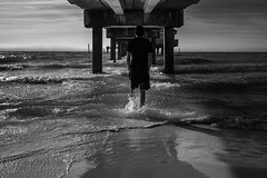 Day and Night (Jake Klein) Tags: ocean sea portrait bw landscape blackwhite nikon df florida portait 28mm environmental