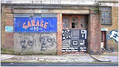 Graffiti (Pang, ?), East London, England. (Joseph O'Malley64) Tags: uk greatbritain england streetart london abandoned wall neglect graffiti paint britain garage neglected spray british walls cans aerosol derelict pang eastend eastlondon postolympicapocalypse