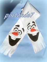 Cachecol Frozen (Mnica Pintando7) Tags: olaf frozen feltro festa cachecol festainfantil lembrancinha pintando7