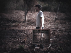 Infevas (Aaroncillo) Tags: portrait man guy art forest photoshop self photography paint artistic creative surreal ps burnt imagination gil deforested aarón aaroncillo