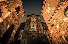 Santa Maria delle Grazie (Rebel Yell 82nd) Tags: street italy milan church window nikon italia milano sigma wideangle chiesa finestra grandangolo hdr naviglio santamariadellegrazie 816mm d7000