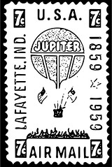 7¢ Hot Air Balloon Jupiter Stamp Vector (sjrankin) Tags: edited balloon stamp hotairballoon illustartion usps grayscale jupiter vector 1959 airmail 7¢ 27march2015