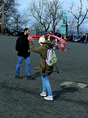 The Windy City (Count me out - in) Tags: castle girl scarf scotland edinburgh edinburghcastle wind blowing gale esplanade struggle prettygirl lothian edinburghcastleesplanade
