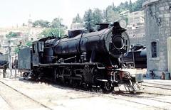 71  Amman  23.05.83 (w. + h. brutzer) Tags: analog train nikon amman eisenbahn railway zug trains jr 71 steam locomotive jordanien dampflok lokomotive eisenbahnen dampfloks webru