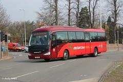 Trent Barton 73 FJ10OXN (Andy4014) Tags: nottingham red bus coach arrow derby chesterfield trentbarton fj10oxn