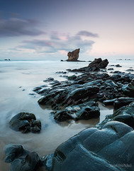 The Master Of Chambers (MANUELup) Tags: sunset seascape sign stars spain rocks power cloudy outdoor horizon fine asturias master aguilar sight popular anxiety waterscape magistral disquiet