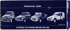 Citroen 2CV Dyane Mehari & 250/400 Van Maintenance Guide (andreboeni) Tags: classic car citroen maintenance 2cv guide van dyane azu mehari deuxchevaux fourgonette