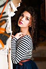 Mariah M Modeling 2015-0443 (houstonryan) Tags: blue school portrait art abandoned print photography utah model photographer modeling ryan stripes models houston curls skirt m photograph portraiture eyed brunette tight schoolhouse northern mariah houstonryan